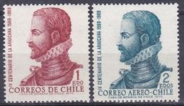 Chile 1972 Persönlichkeiten Kunst Kultur Literatur Schriftsteller Writer Epos Araucana Ercilla Y Zuniga, Mi. 767-8 ** - Chile