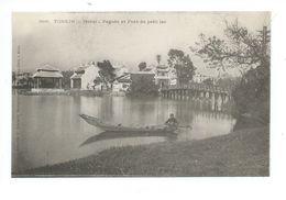 INDOCHINE Vietnam Tonkin Hanoi Pagode Et Pont Du Petit Lac TB 2 Scans Colonies Françaises - Vietnam