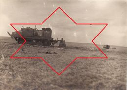 Photo 14-18 CRAONNE - Tank Français Schneider, Soldat Allemand (A187, Ww1, Wk 1) - Craonne