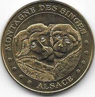 MEDAILLE TOURISTIQUE MONNAIE DE PARIS BAS RHIN MONTAGNE DES SINGES 2014 - Monnaie De Paris