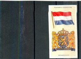 Image Player's Cigarettes A Series Of 50 N°30 National Flags And Arms Netherlands Drapeau Du Pays-Bas Texte Au Dos - Player's