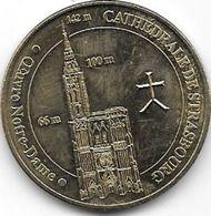 MEDAILLE TOURISTIQUE MONNAIE DE PARIS BAS RHIN STRASBOURG CATHEDRALE 2012 - Monnaie De Paris