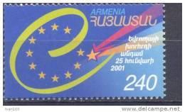 2001. Armenia, Council Of Europe, 1v, Mint/** - Arménie