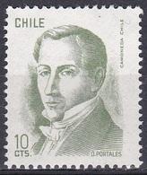 Chile 1975 Geschichte History Persönlichkeiten Politiker Politicians Diego Portales, Mi. 846 ** - Chile