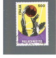 ITALIA REPUBBLICA  - SASS. 1967          -      1991  PALLACANESTRO    -      USATO - 6. 1946-.. Repubblica