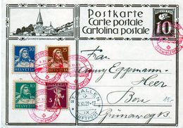 B - 1929 Svizzera - Sangallo - Posta Aerea - Stamped Stationery