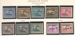 Wallis And Futuna Timbre Taxe 1920 And 1927 Yvert#1-8 And Yvert#9-10 Mint Hinged - Neufs