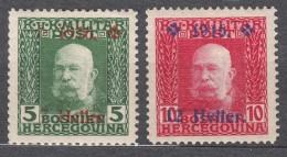 Austria Feldpost Occupation Of Bosnia 1916 Mi#95-96 Mint Hinged - Unused Stamps