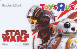 Gift Card - - - Germany / Allemagne - - - Star Wars - - - ToysRUs - Gift Cards