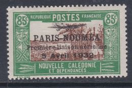 """Nlle Calédonie  P.A.  N° 18 X Timbre Surchargé """" Paris-Nouméa"""" : 85 C. Trace De Charnière Sinon TB - New Caledonia"""