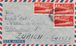 Brief Von Madrid In Die Schweiz (br3014) - 1951-60 Briefe U. Dokumente