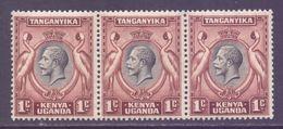 KUT Scott 46 - SG110, 1935 George V 1c Strip Of 3 MNH** - Kenya, Oeganda & Tanganyika
