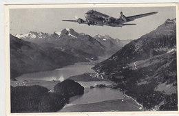 Swissair-Flugzeug über Dem Engadin - 1952      (P-109-60422) - GR Grisons