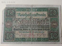 10 Marki 1920 - [ 3] 1918-1933 : Repubblica  Di Weimar