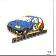 Pin's - Automobile - Renault 1ère Coupe Sport 91 N° 76 - Carrosserie Bleue - Intérieur Blanc. Est. A. Bertrand. T418-23. - Renault