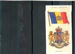 Image Player's Cigarettes A Series Of 50 N°36 National Flags And Arms Roumania Drapeau De La Roumanie Texte Au Dos - Player's
