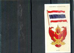 Image Player's Cigarettes A Series Of 50 N°38 National Flags And Arms Siam Drapeau Du Siam Asie Asiatique Texte Au Dos - Player's