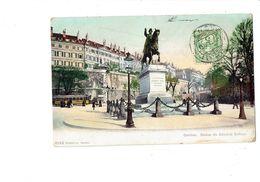 Cpa - Suisse - GENEVE - Statue Du Général Dufour - Cheval Cavalier - 8133 - 1906 - Tramway - GE Genève
