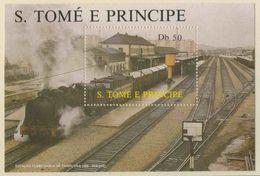 "Sao Tomé E Principe 1987 B174 - Mi 1020 ** ""Baldwin"" Steam Locomotive (1920) / Dampflokomitive - Sao Tome En Principe"