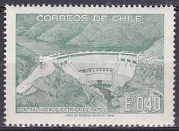 Chile 1969 Wirtschaft Energie Energy Elektrizit Electricity Staudamm Talsperre Reservoir Dam Rapel, Mi. 706 ** - Chile