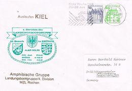 27392. Carta KIEL (Alemania Federal) 1981. Amphibische Gruppe, 4º Division Grupo Desembarco. Naval - [7] República Federal