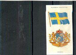 Image Player's Cigarettes A Series Of 50 N°42 National Flags And Arms Sweden Drapeau De La Suède Texte Au Dos - Player's