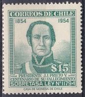 Chile 1957 Zwangszuschlagsmarke Persönlichkeiten Politiker Politician Präsident President Prieto, Mi. 1 ** - Chile