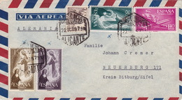 Brief Von Alicante Nach Deutschland (br3021) - 1951-60 Briefe U. Dokumente