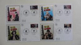 France : FDC : 1 Er Jour   :  100 Ans De Cinéma Lyon  1995  :N°2919/22  : 4 Enveloppes - FDC