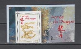 FRANCE / 2012 / Y&T N° 4631 ** : Année Du Dragon (issu Du Bloc) - Gomme D'origine Intacte - France