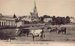 SAINT PIERRE LES ELBEUF : Vue Vers L'Eglise - Francia