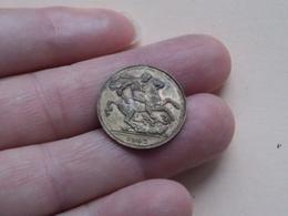 1902 - EDWARDUS VII D : C : BRITT : CORONATION COIN ( 2,7 Gr. / Zie Foto ) - Regno Unito