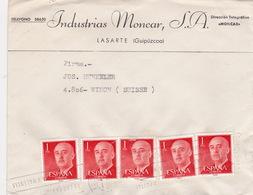 Brief In Die Schweiz (br3025) - 1951-60 Briefe U. Dokumente