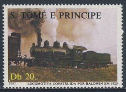 "Sao Tomé E Principe 1987 Mi 1019 ** ""Baldwin"" (1920) Steam Locomotive / Dampflokomotive - Treinen"