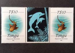 Tonga 1992 Def. Gutter Pair - Tonga (1970-...)