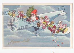 Père Noël Avion Enfants Jouets Illustration - Santa Claus