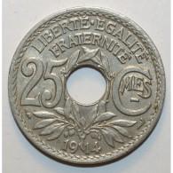 GADOURY 379 - 25 CENTIMES 1914 TYPE LINDAUER SOULIGNE - TTB - KM 867 - France