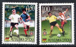 BOSNIAN SERB REPUBLIC 2002 Football World Cup MNH / **.  Michel 243-44 - Bosnia And Herzegovina