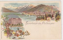 Souvenir Di Pllanza - Litho Ed.Künzli, Zurigo    (P-109-30313) - Novara