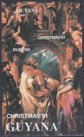 Guyana 1991 Religion Christentum Weihnachten Christmas Kunst Kultur Gemälde Paintings Rubens Madonna, Bl. 160 ** - Guyana (1966-...)