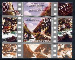 BOSNIAN SERB REPUBLIC 2003 Centenary Of Cinema Block MNH / **.  Michel Block 7 - Bosnia And Herzegovina