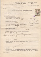ANSUCHEN 1937  Um Zuschuß An Das Kuratorium D.Wiener Hausreperaturfonds, 30 Groschen Stempelmarke, Dokument Ca.... - Historische Dokumente