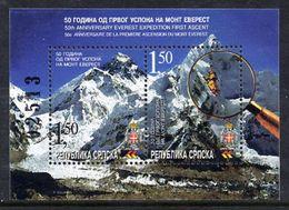 BOSNIAN SERB REPUBLIC 2003 Ascent Of Everest MNH / **.  Michel Block 8 - Bosnia And Herzegovina