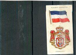 Image Player's Cigarettes A Series Of 50 N°50 National Flags And Arms Yugoslavia Drapeau De La Yougoslavie Texte Au Dos - Player's