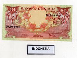 Indonesia - 1959 - Banconota Da 10 Rupie - BICOLORE - Nuova - (FDC8066) - Indonesië