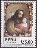 Peru 1986 Religion Christentum Weihnachten Christmas Noel Navidad Natale Kunst Kultur Gemälde Paintings, Mi. 1347 ** - Peru