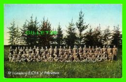 MILITARIA - No 3 COMPANY R. C. G. A. AT PETEWAWA - EUROPEAN POST CARD CO - - Régiments