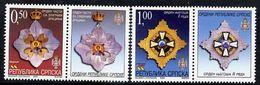 BOSNIAN SERB REPUBLIC 2003 Orders With Labels MNH / **.  Michel 279-80 - Bosnia And Herzegovina