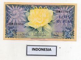 Indonesia - 1959 - Banconota Da 5 Rupie - Nuova - (FDC8069) - Indonesia