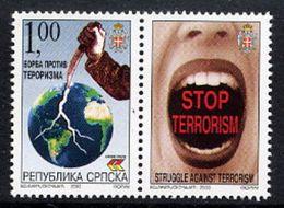 BOSNIAN SERB REPUBLIC 2003 Struggle Against Terrorism With Label MNH / **.  Michel 281 - Bosnia And Herzegovina